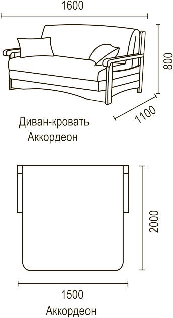 Диван аккордеон с ящиком Москва с доставкой